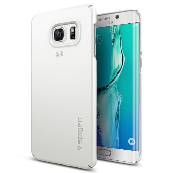 Spigen Galaxy S6 Edge Plus Case Thin Fit White