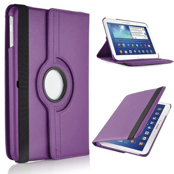 Purple PU Leather 360 Rotating Case for Samsung Galaxy Tab S 8.4 (T700/T701/T705)