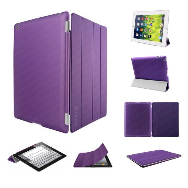 Purple Ultra Slim Smart Case for iPad 2/3/4 + Stylus + Screen Protector
