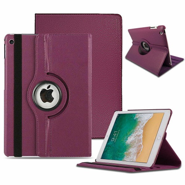 Red  Apple iPad Air (2019) 360 Rotating Magnetic Smart Stand Case