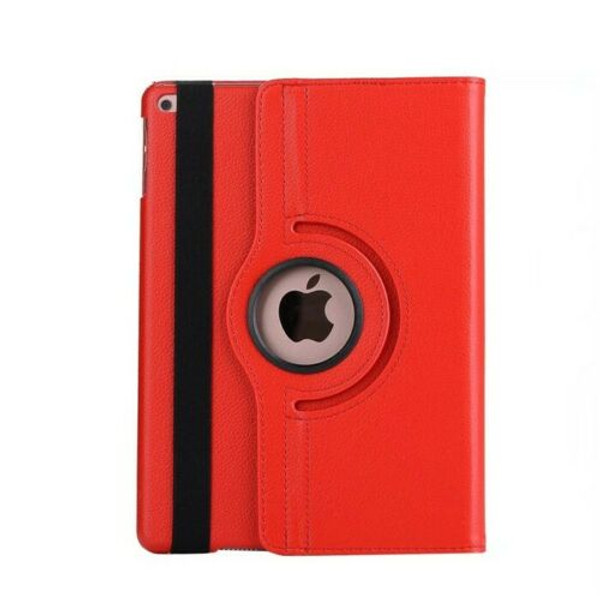 Red PU Leather 360 Rotating Case for iPad Air 2(2014)