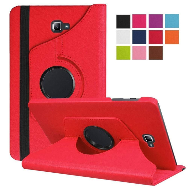 Red PU Leather 360 Rotating Case for Samsung Galaxy Tab 3 8.0 (T310/T311)
