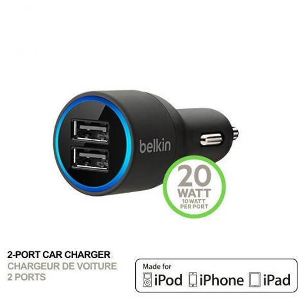 Belkin 2.1 A Universal Dual USB Car Charger for iPhone/iPad/iPad and Android/smart phone
