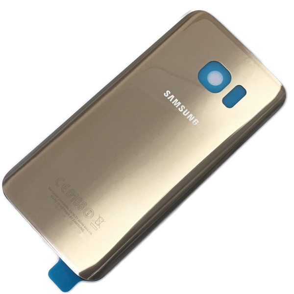 Replacement Gold Rear Back Battery Cover Glass For Samsung Galaxy S7 Edge