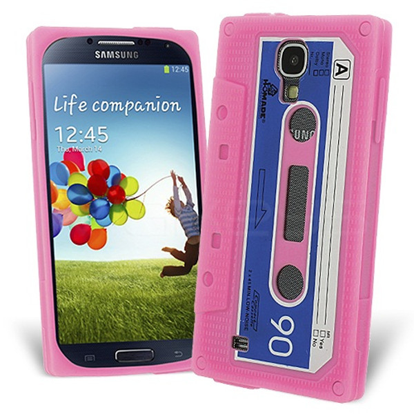 Retro Cassette Case Cover for Samsung Galaxy S4 - Baby Pink