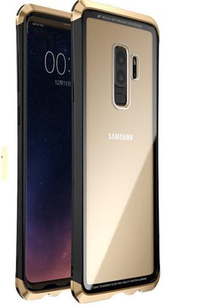 Samsung Galaxr S9  Black and Gold Shockproof LUPHIE Aluminum Metal Bumper Back Case