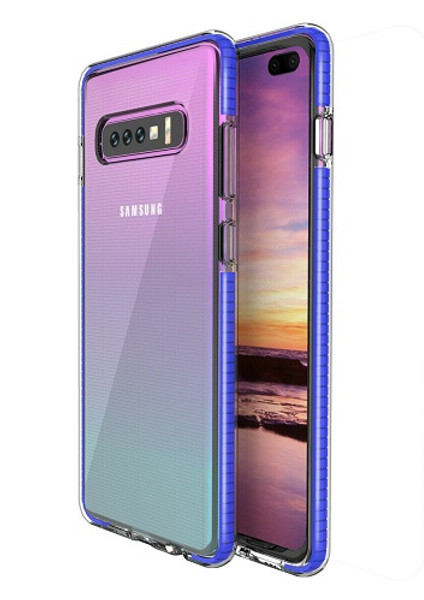 Samsung Galaxy  S10 Plus TPU Transparent Blue Bumper Case