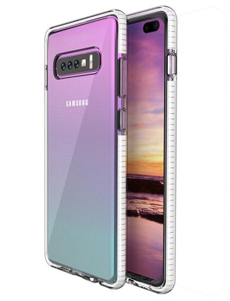 Samsung Galaxy  S10 TPU Transparent White Bumper Case