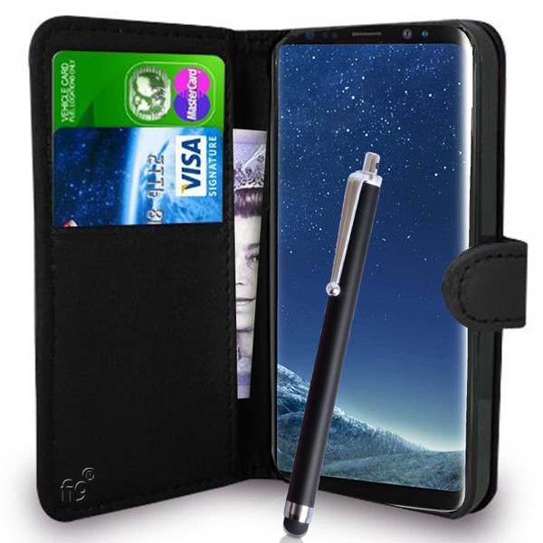 Samsung Galaxy  S8 Pu Leather Wallet with Stylus Pen