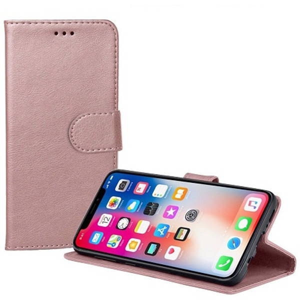 Apple iPhone  XS Rose Gold Real Genuine Leather Flip Wallet  Cover