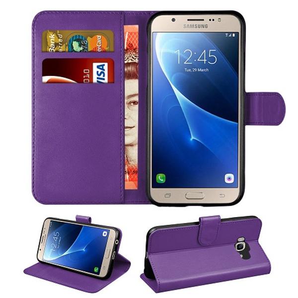 Samsung Galaxy J3  2018  Purple Flip Leather Wallet Card Holder