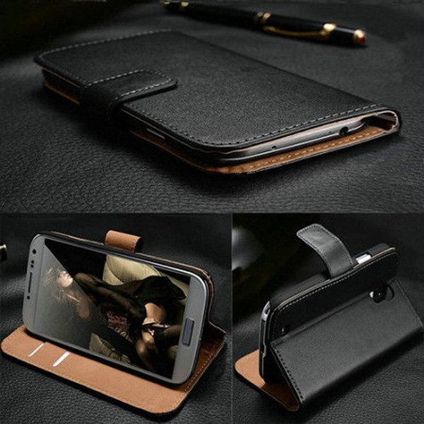Samsung Galaxy J3  Genuine Real Leather Wallet Cover