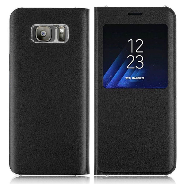 Samsung Galaxy J3 2017 Black Window View Case.
