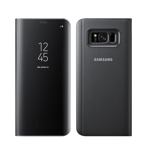 Samsung Galaxy J3 2017 Flip Mirror Stand Case Black