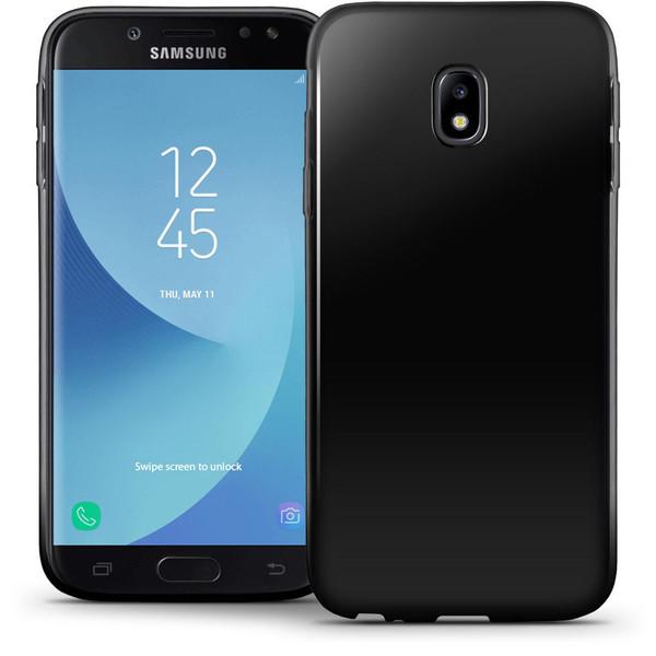 Samsung Galaxy J3 2017 Glossy TPU Gel Solid Black Case