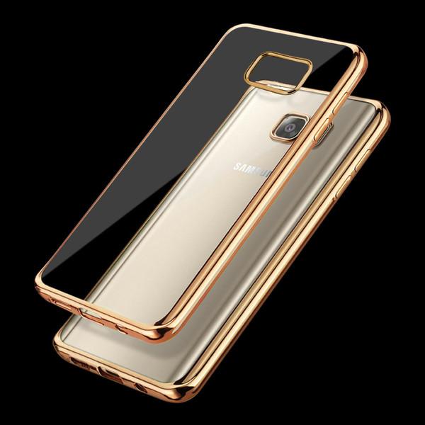 Samsung Galaxy J3 2017 Gold Chrome  Bumper Gel Case