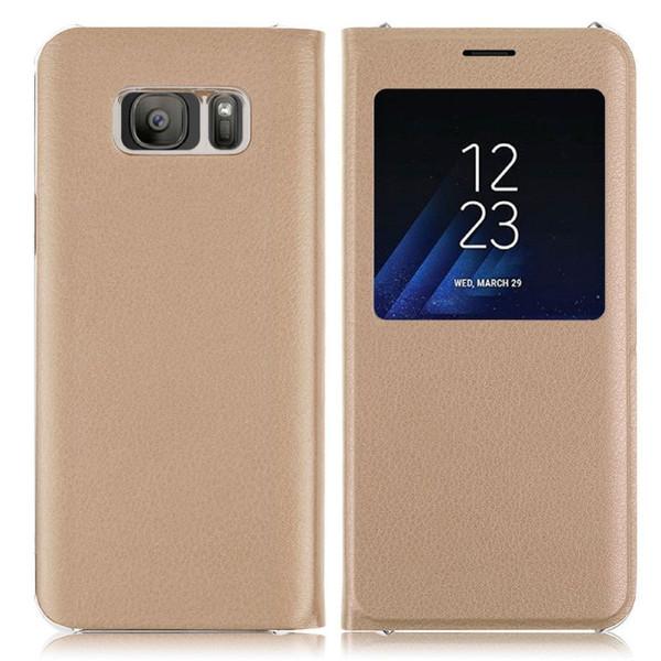 Samsung Galaxy J3 2017 Gold Window View Case.