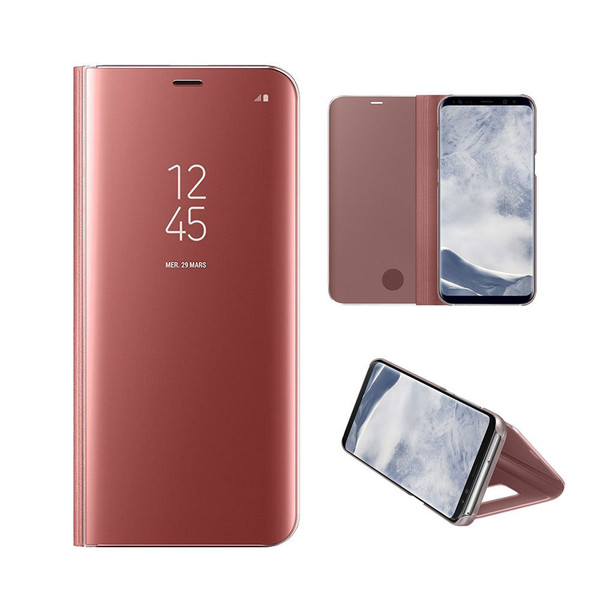 Samsung Galaxy J3 2017 Mirror Stand Case Cover Rose Gold
