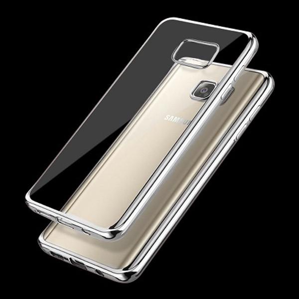Samsung Galaxy J3 2017 Silver Chrome  Bumper Gel Case
