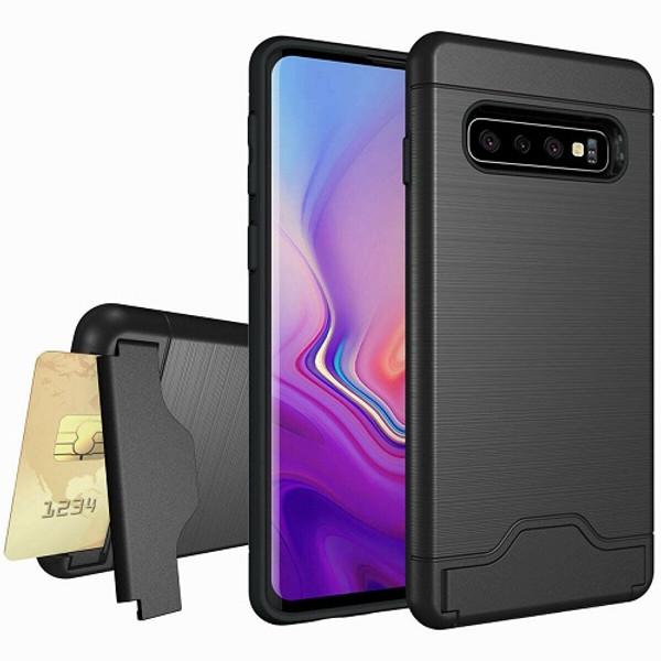 Samsung Galaxy J3 2018  Armor Card Holder Rugged Case