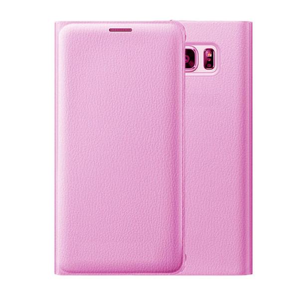 Samsung Galaxy J3 Luxury Leather Card Holder Wallet Flip Case - Pink