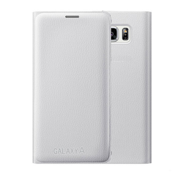 Samsung Galaxy J3 Luxury Leather Card Holder Wallet Flip Case - White