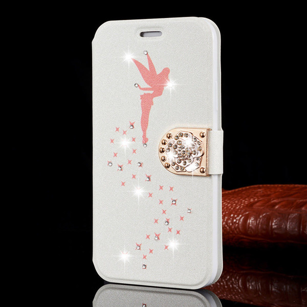 Samsung Galaxy J3 Luxury Slim Leather Magnetic Flip Bling Baby Pink Case