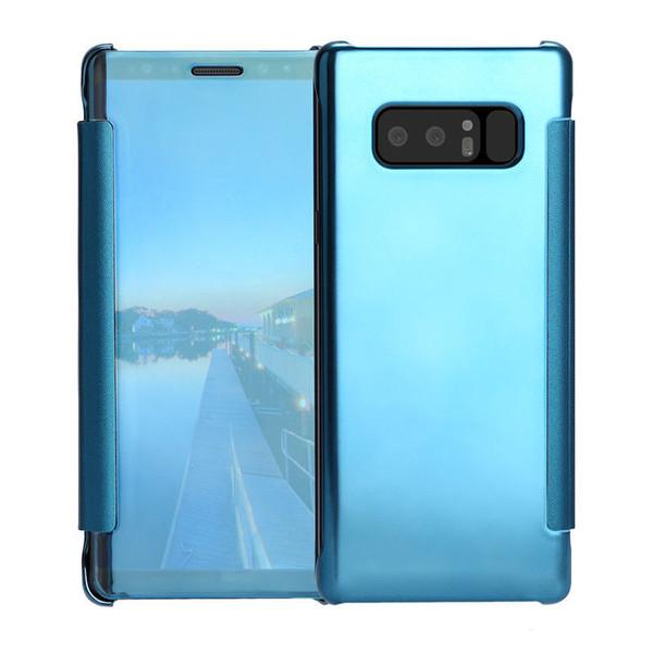 Samsung Galaxy J3 Mirror Smart View Clear Flip Case Cover -  Blue