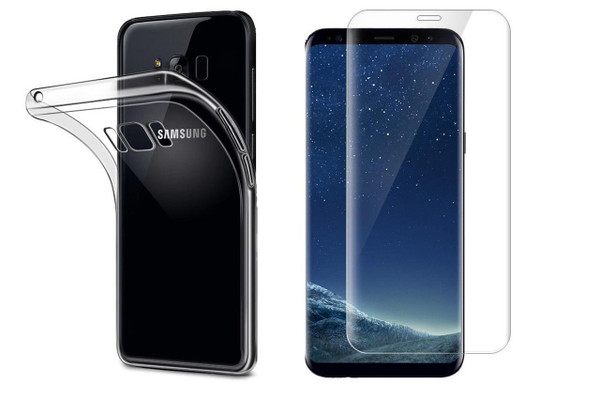 Samsung Galaxy J3 Tempered Glass Screen Protector Clear Gel case