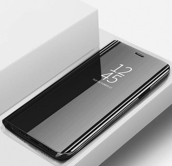 Samsung Galaxy Note 3 Black Leather Mirror Wallet  Stand Case