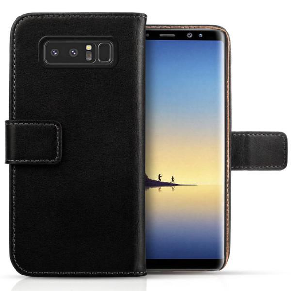 Samsung Galaxy Note 8 Flip Wallet Leather Black Case