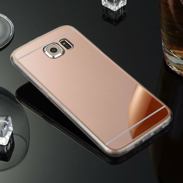 Samsung Galaxy Note3 Ultra-thin Rose Gold Silicone Mirror Case