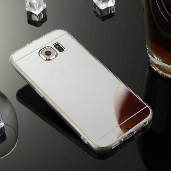 Samsung Galaxy Note3 Ultra-thin Silver Silicone Mirror Case