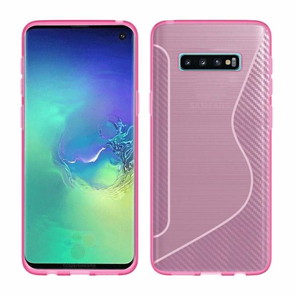 Samsung Galaxy S10  Pink Hybrid Shockproof  Bumper case