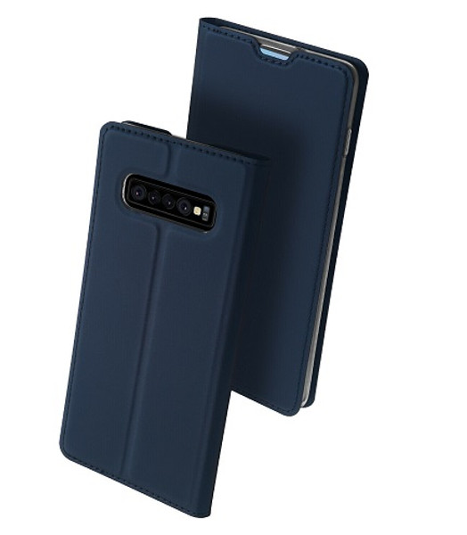 Samsung Galaxy S10 Plus  Blue Pu leather  Magnetic Cover