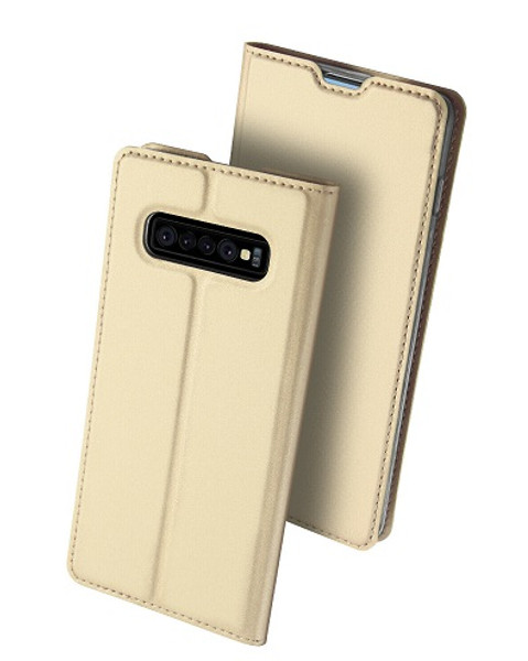 Samsung Galaxy S10 Plus  Gold Pu leather  Magnetic Cover