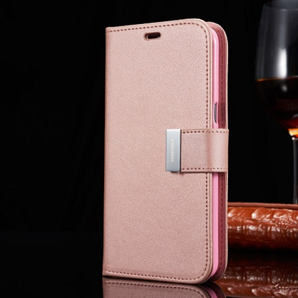 Samsung Galaxy  Rose Gold S6 Edge  Magnetic  Wallet  Case