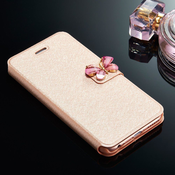 Samsung Galaxy S5 Rose Gold Slim Stand Wallet Magnetic Case