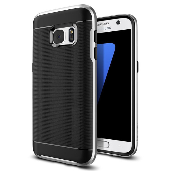 Samsung Galaxy J3 Silver 360 Shockproof Protective Hard Case