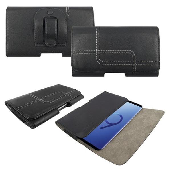 Samsung Galaxy S6 Edge Genuine Leather Belt Clip Holster Flip Case
