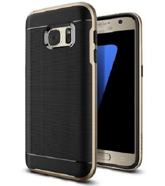 Samsung Galaxy S6 Edge Gold  360 Shockproof Protective Hard Case