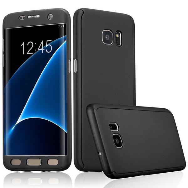 Samsung Galaxy S6 Edge Luxury Hybrid 360° New Shockproof Flip Case -Black