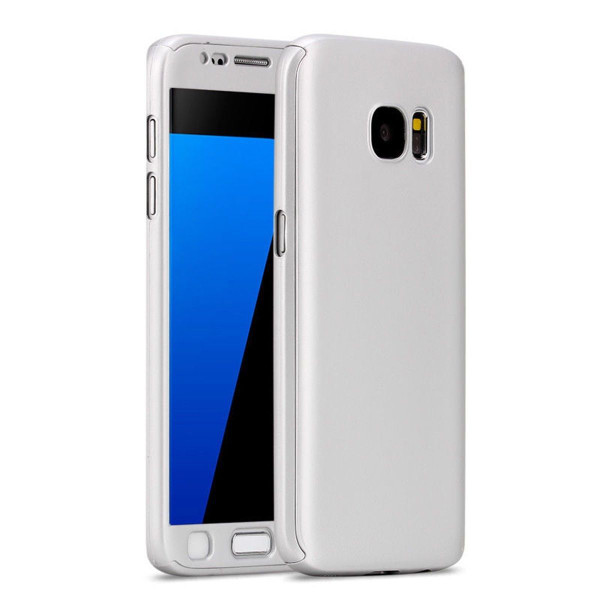 Samsung Galaxy S6 Edge Luxury Hybrid 360° New Shockproof Flip Case -Silver