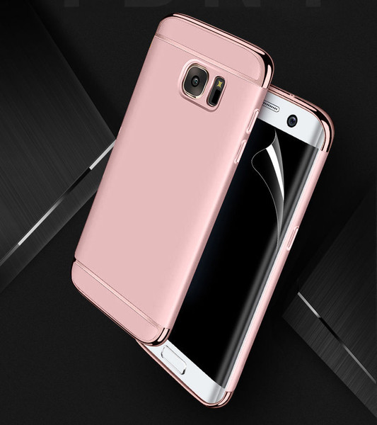 Samsung Galaxy S6 Edge Luxury Ultra Slim Shockproof Bumper Case  Rose Gold
