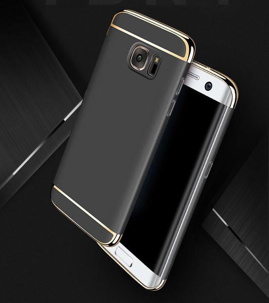 Samsung Galaxy S6 Edge Luxury Ultra Slim Shockproof Bumper Case Black