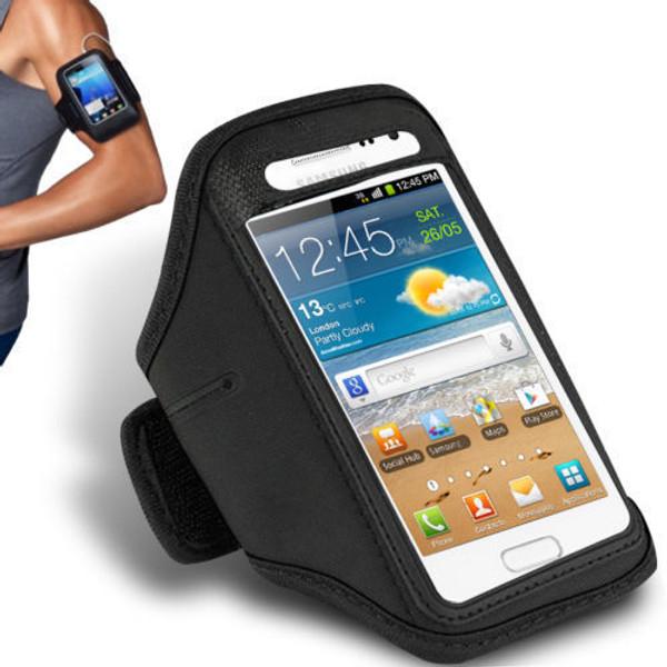 Samsung Galaxy S6 Edge Plus Sports Running Gym Armband Strap Case Cover Black