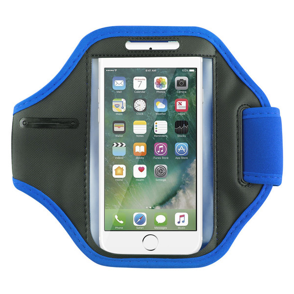 Samsung Galaxy S6 Edge Sports Running Gym Armband Strap Case Cover-Blue