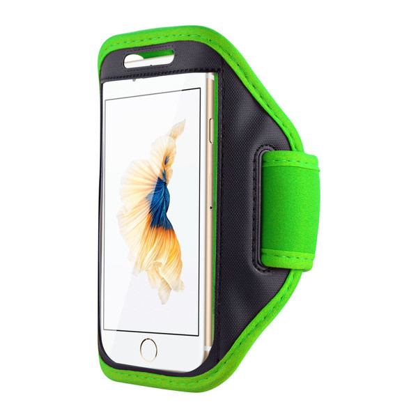 Samsung Galaxy S6 Edge Sports Running Gym Armband Strap Case Cover-Green