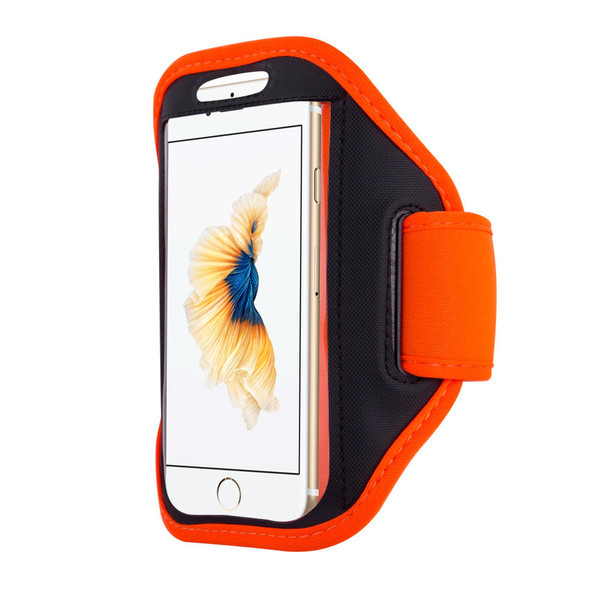 Samsung Galaxy S6 Edge Sports Running Gym Armband Strap Case Cover-Orange