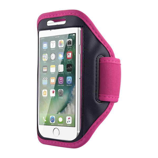 Samsung Galaxy S6 Edge Sports Running Gym Armband Strap Case Cover-Pink